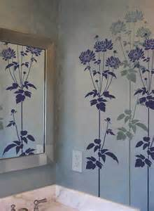 Flower Stencil Garden Anemone - Reusable Stencils for easy wall decor