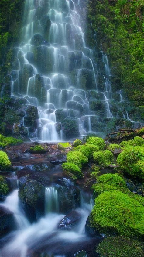 enchanting waterfall hd android wallpaper
