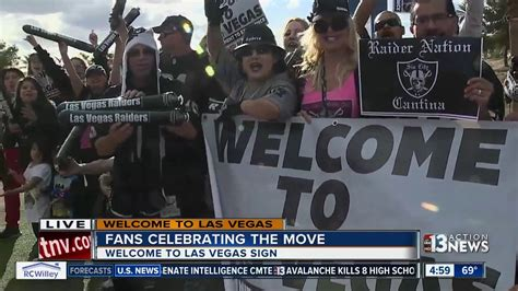fans celebrate raiders move    fabulous las