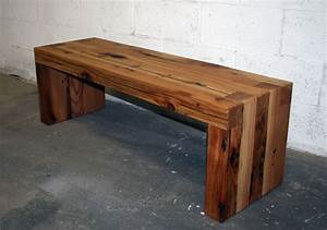 Hand Made Reclaimed Cedar Box Joint Bench/Coffee Table by