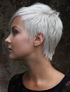 Coupe Courte Femme Cheveux Gris : cheveux blancs courts femme ~ Melissatoandfro.com Idées de Décoration