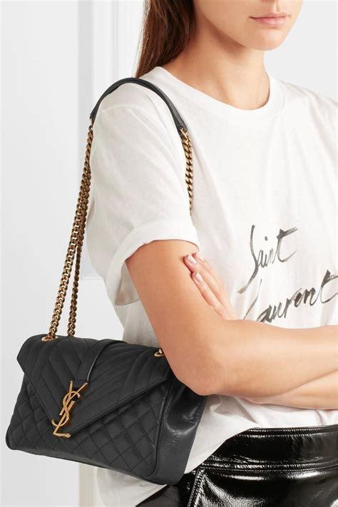 saint laurent monogram envelope ysl classic soft crossbody black leather shoulder bag tradesy