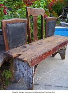 Planche De Bois Exterieur : fabriquer un banc de jardin avec chaise et planche bois ~ Premium-room.com Idées de Décoration