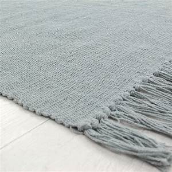 Petit tapis gris bleu pas cher en coton 50x80cm for Tapis bleu gris