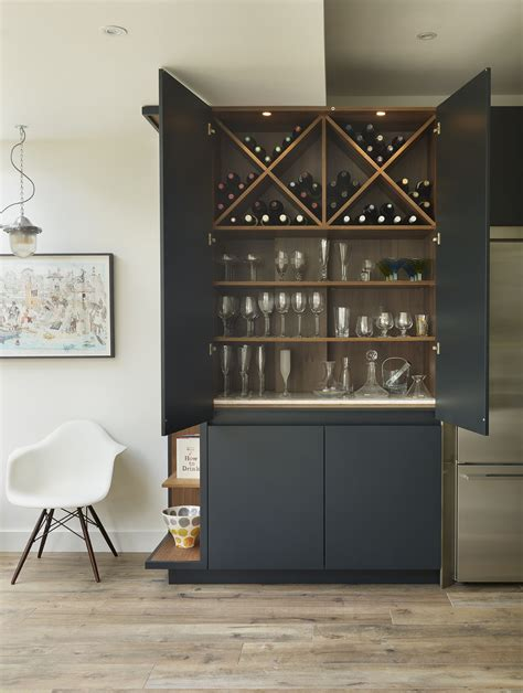 Wine Cupboards by Roundhouse Urbo Matt Lacquer Bespoke Drinks Cabinet Bar