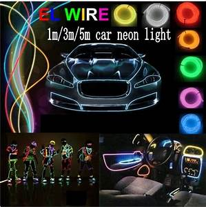 Neon Led 12v : 1m 3m 5m flexible led neon light car el wire glow rope tube cable 12v inverter car cigarette ~ Medecine-chirurgie-esthetiques.com Avis de Voitures