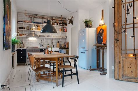 small swedish apartment     scandinavian style