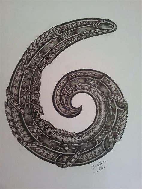 Ko Te Koru...the Koru. Drawing by Bino Smith