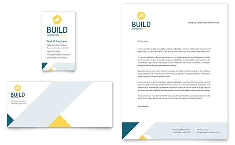 contractor business card letterhead template design