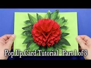 Comment Faire Une Rose En Papier Facilement : comment faire une carte pop up fleur bricolage en ~ Nature-et-papiers.com Idées de Décoration