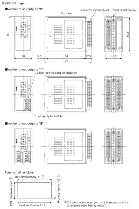 DIN48×96 Square type Digital Panel Meter VPRHS(VS)-U
