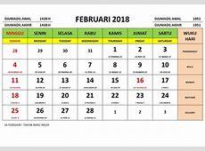 Kalendar februari 2018 lengkap 2019 2018 Calendar