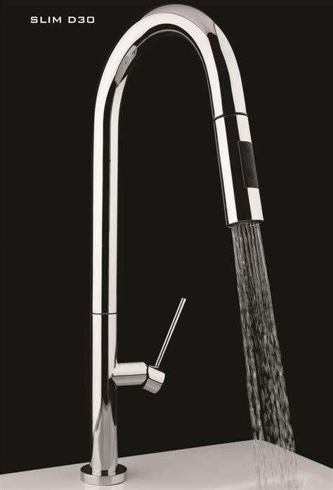 italian designer kitchen faucet  pullout dual shower