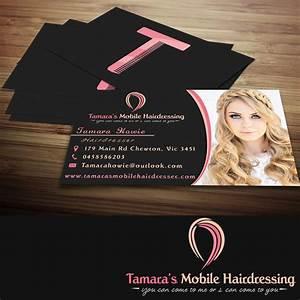 Business card design for tamara3939s mobile hairdressing by for Hairdresser business card designs