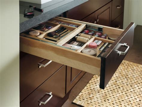 Bathroom Cabinet Drawer Organizers Schrock Vanity Cosmetic Drawer Traditional Other Metro