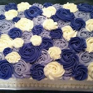 Options Light Chocolate Two Layer Ombre Rosette Cake Rectangle Cake Bake Kiwi
