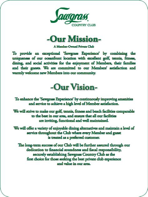 vision statement template gallery mission and vision statement
