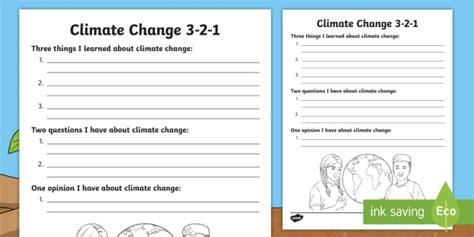 climate change 3 2 1 worksheet worksheet climate change fossil fuels