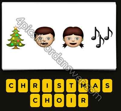 Guess The Emoji Christmas Tree Boy Girl Music Notes 4