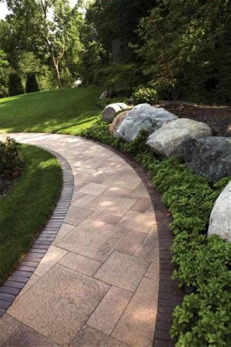 Unilock Driveway - paver walkway by unilock with umbriano and copthorne photos