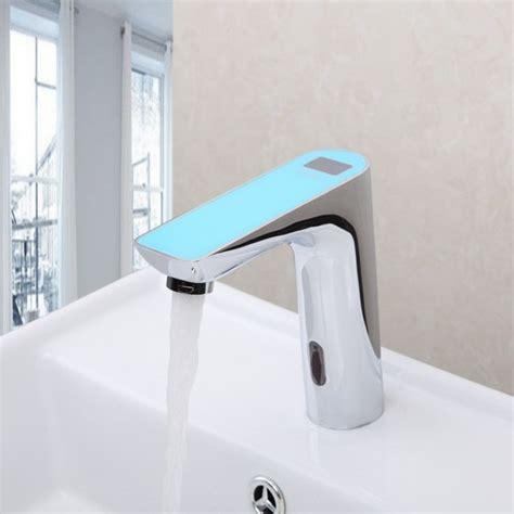 motion sensor bathroom faucet new digital disply electronic motion sensor bathroom faucet