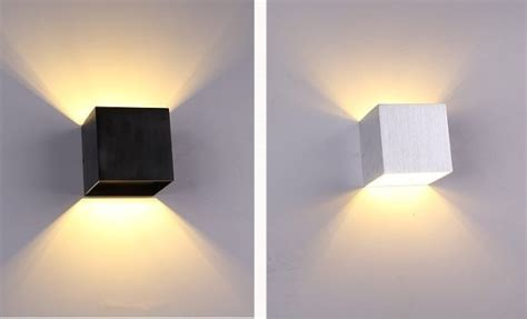 pcs led wall lamp sconce light modern loft stairs bedroom