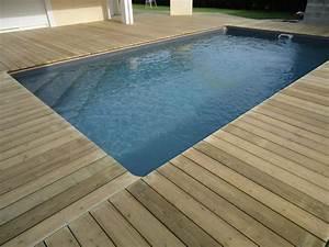 tour de piscine en bois pose terrasse bois landes With terrasse en bois piscine