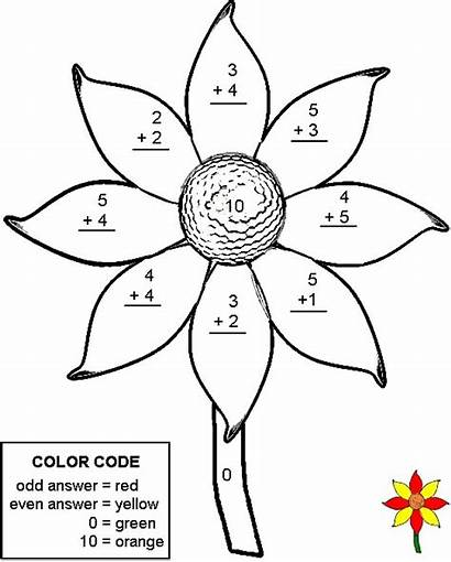 Addition Worksheets Number Math Coloring Spring Pages