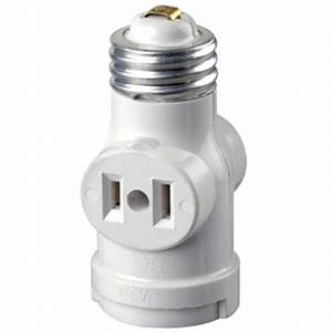 leviton 660 watt keyless twin socket lamp holder adapter With outdoor lamp holder with outlet