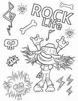 Trolls Coloring Tour Pages Rock Printable Hard Youloveit Cartoon sketch template