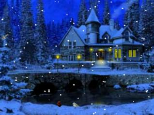 Snowy Cottage Animated Wallpaper - fashion show mall 3d snowy cottage animated wallpaper