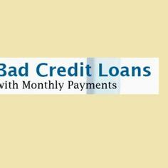 bad credit loans  monthly payments images