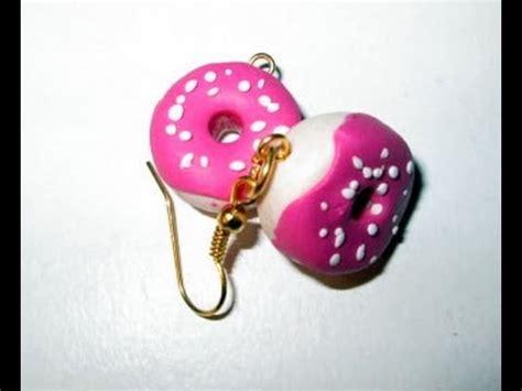 boucle d oreille pate fimo d i y tuto fimo boucles d oreille donuts en fimo tres facile
