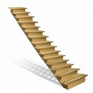 Marche Bois Escalier : escalier en bois 15 marches avec contremarches deck linea ~ Voncanada.com Idées de Décoration