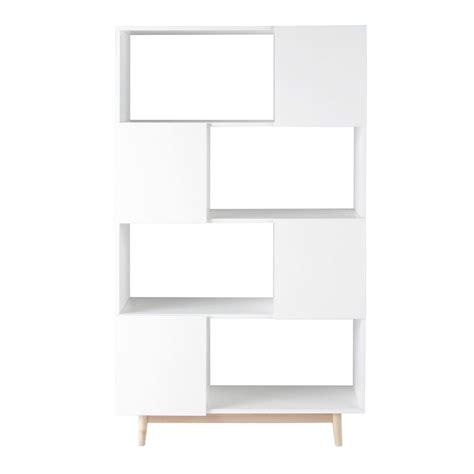 bibliotheque maison du monde biblioth 232 que vintage en bois blanche l 110 cm artic maisons du monde
