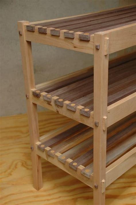 shoe rack   stokes  lumberjockscom woodworking