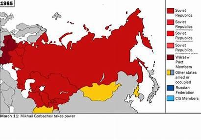 Soviet Union Map Ussr Former Collapse Republics