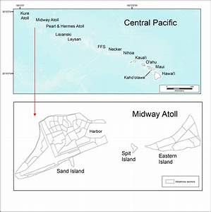 Map Of The Hawaiian Islands In The Central Pacific Ocean