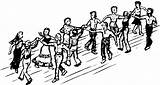 Dance Contra Folk Square Dancing Sketch Formation Country Sketches Line Couple Facing sketch template