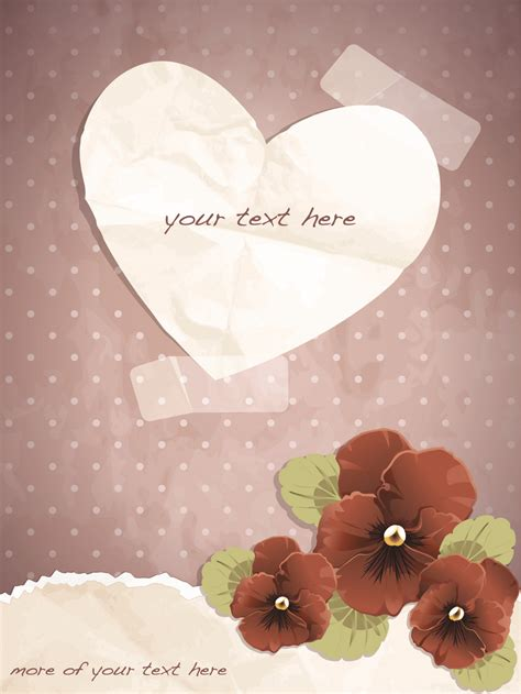 exquisite romantic cards vector  vector card
