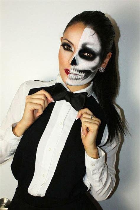 skelett gesicht schminken pin gofeminin de auf happy food und deko schminken