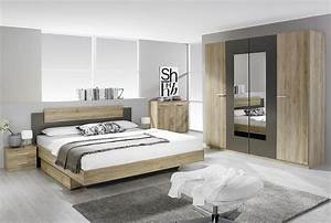 Tiroir lit contemporain chene clair aureal tiroir lit for Chambre a coucher adulte avec matelas thiriez prix