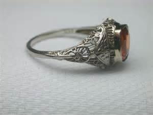 vintage sapphire engagement rings antique sapphire filigree engagement ring s 2 47ct vintage estate padparadscha