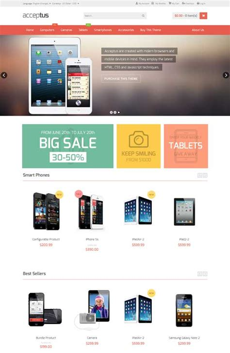 Store Theme 15 Responsive Phone Shop Magento Themes Templates