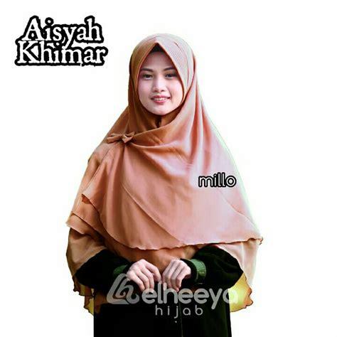 khimar layer silver  elheeya produksi hijab  kota