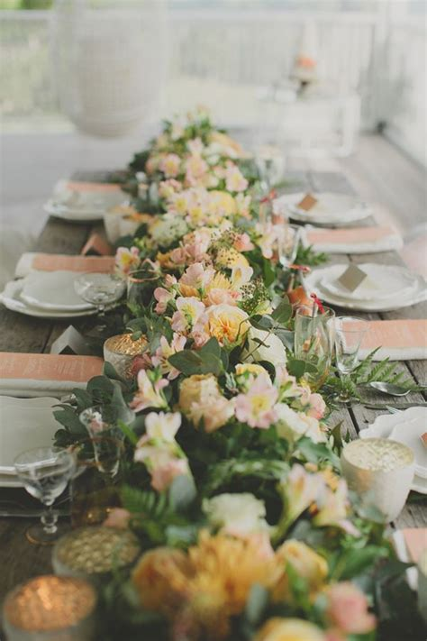 Lush Floral Table Runner Photo By Ryder Evans