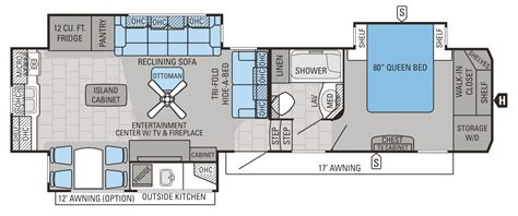 Jayco 5th Wheel Hauler Floor Plans by 2016 Point Luxury Fifth Wheel Floorplans Prices