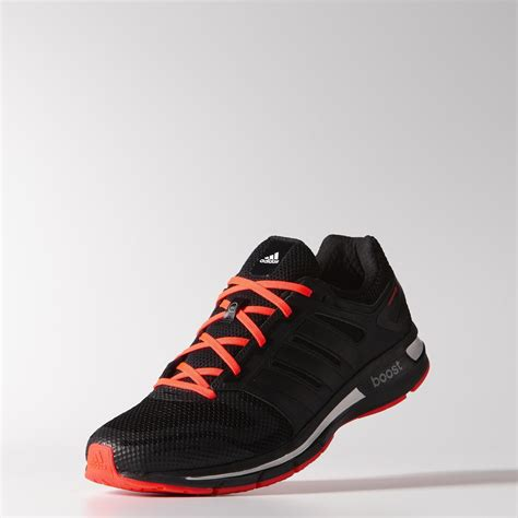 adidas mens revenergy mesh running shoes blacksolar red tennisnutscom