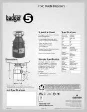 insinkerator badger 5 manual