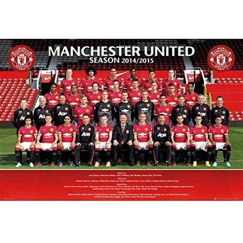 cool gifts for football fans gift ideas official manchester united fc squad poster